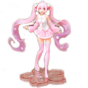 Cherry blossoms Ornaments  Figure Model Doll Toys Child Gift Cute Dress Wedding dress Hatsune Miku
