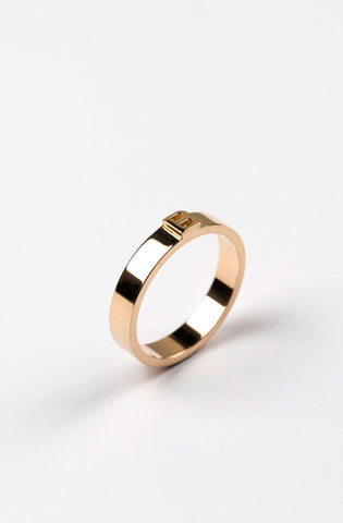 Thin Character Ring (personalizable)
