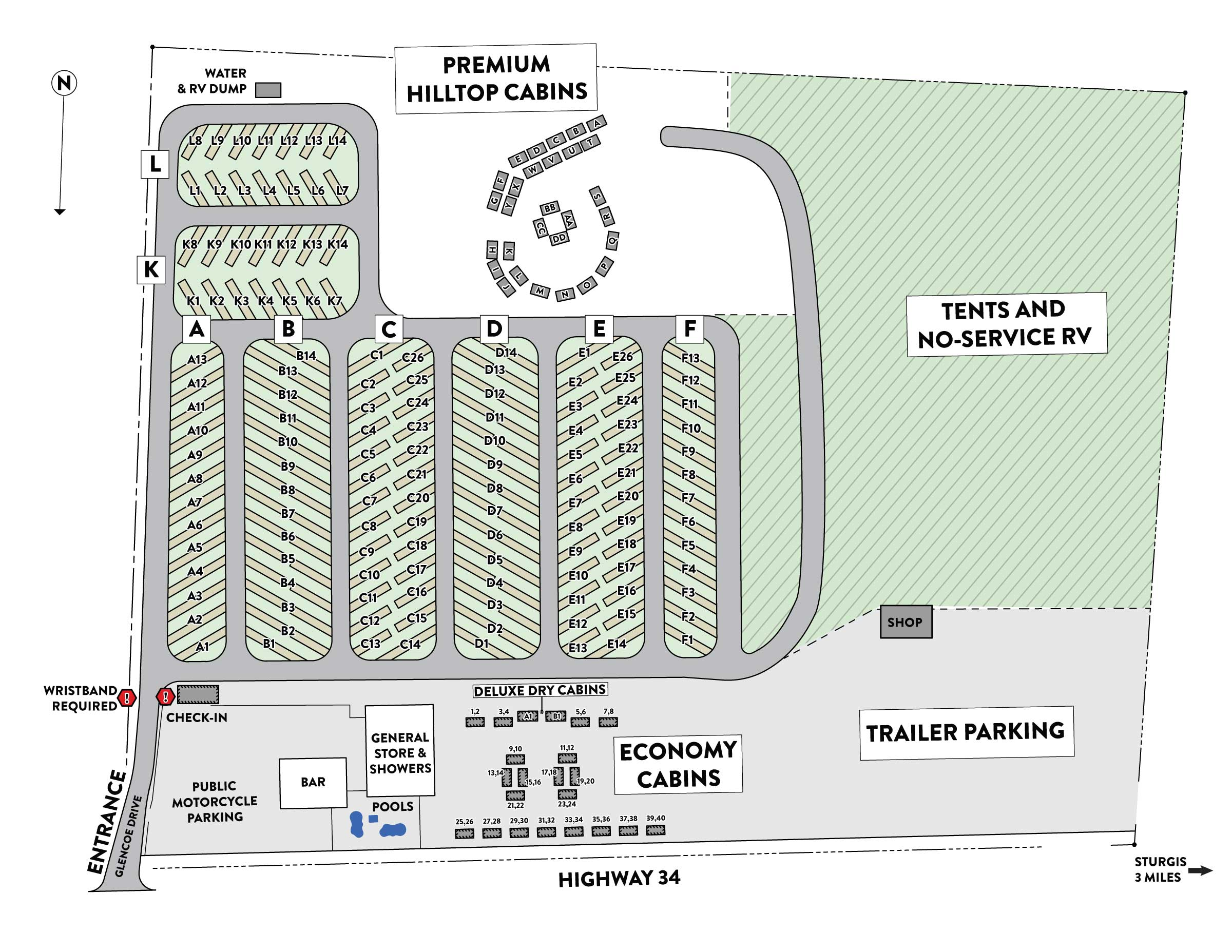 Steel Pony Campground Map 2021