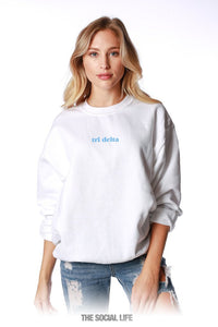 Virginia Tech Tri Delta Baby Crewneck