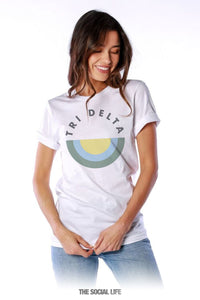 Virginia Tech Tri Delta White Tee