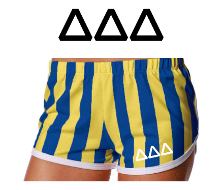 Tri Delta-University of Berkeley-Game Day Shorts