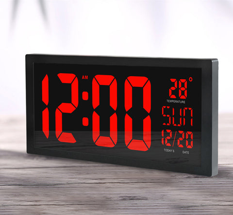 Image of HD LED large screen wall clock Daylight saving time function