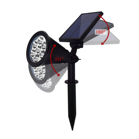 7LED Solar Lights Garden Spotlight Auto Change