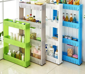 Multipurpose Kitchen Shelf with Removable Wheels Crack