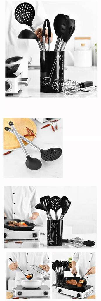 9 PCS Stainless Steel Spoon Kitchen Cooking Utensil Set