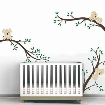 3 Koalas Tree Branches Nursery Wall Stickers Wall Art
