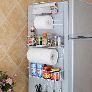 Multipurpose Fridge Hanging Storage Rack Kitchen Shelf Towel
