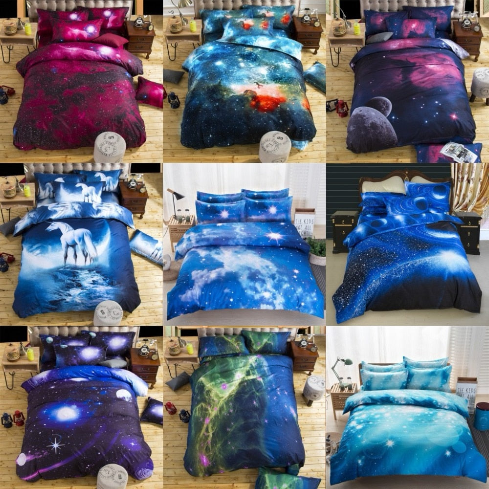 Bedding Sets Universe Themed Bed Linen 3D Galaxy