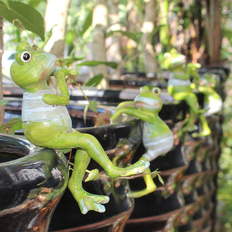 4pcs/Set Creative Climbing Frogs Hang Outdoor Garden