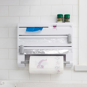 6 in 1 Spice Rack Kitchen Paper Towel Holder Aluminum