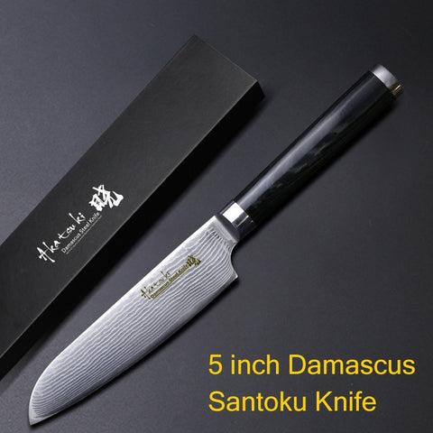 Image of Damascus Knives Chef Kitchen Ultra Sharp Micarta Handle