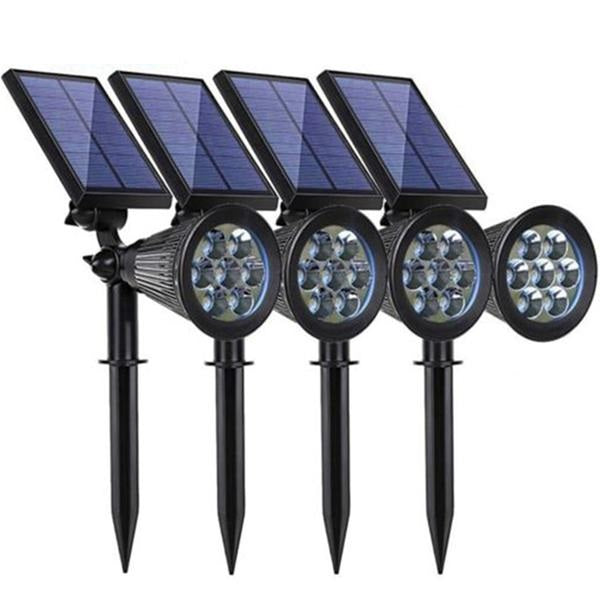 Solar Spotlight Lawn Lights Outdoor Garden