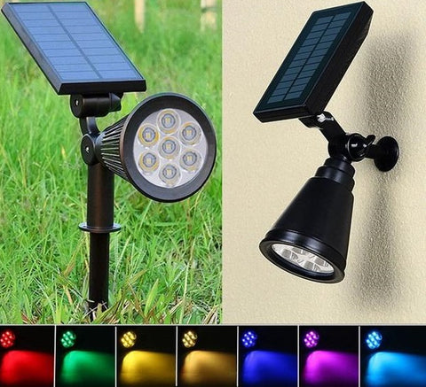 Image of Solar Spotlight Lawn Lights Outdoor Garden