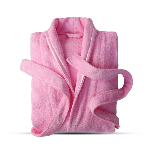 Image of Pure Cotton Bathrobe Lovers For Bath Long Sleeve
