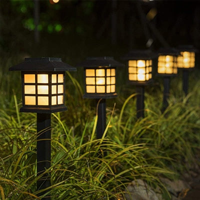 6-Pack Solar Pathway Lights Solar Garden Patio