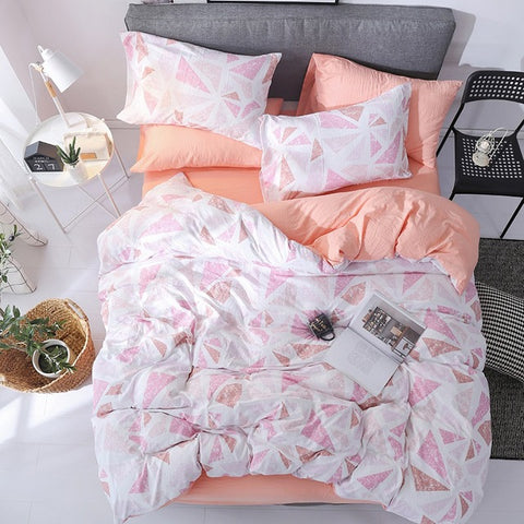 Home Textile Black White Stripe Brief Bedding Set