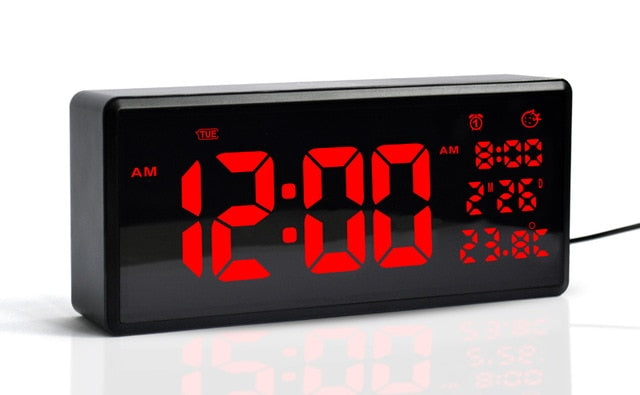 HD LED large screen wall clock Daylight saving time function