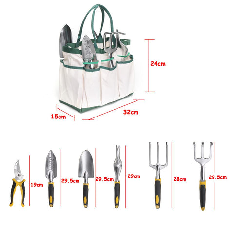 7Pcs Garden Tool Set Stainless Steel Tool Set Planting