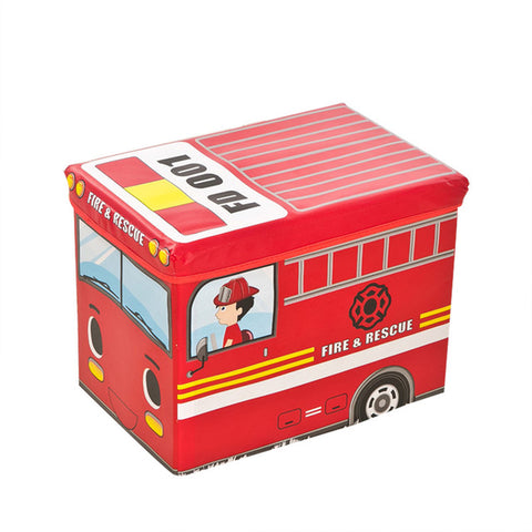 Image of Bus Shape Toys Organizer for Kids Clothes Toy Storage