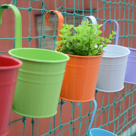 10pcs/set Colorful Hanging Flower Pot Hook Garden Planter
