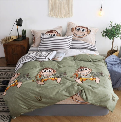 Image of Bedding Set Blue Euro Bedspread Double Bed Sheets