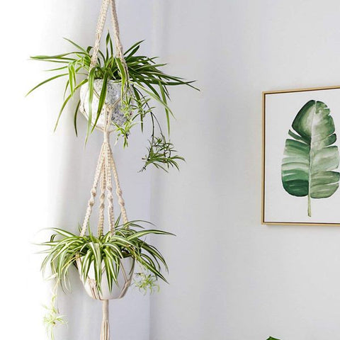 4 Pack Plant Hangers Handmade Indoor Wall