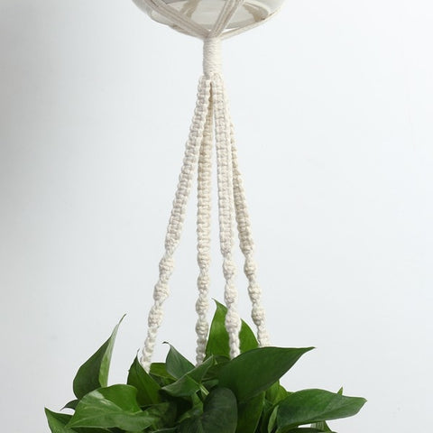 Image of 4 Pack Plant Hangers Handmade Indoor Wall