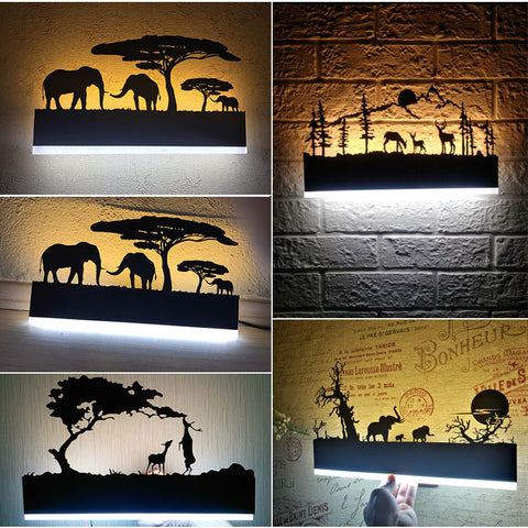 Acrylic Creative Modern LED Wall Light For Living Room
