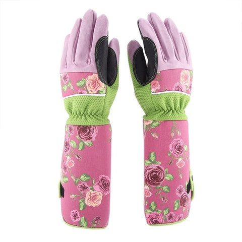 Image of Long Rose Pruning Garden Gloves Puncture Resistant
