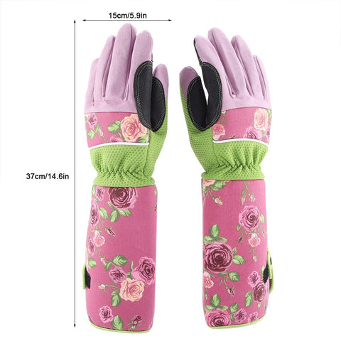 Long Rose Pruning Garden Gloves Puncture Resistant