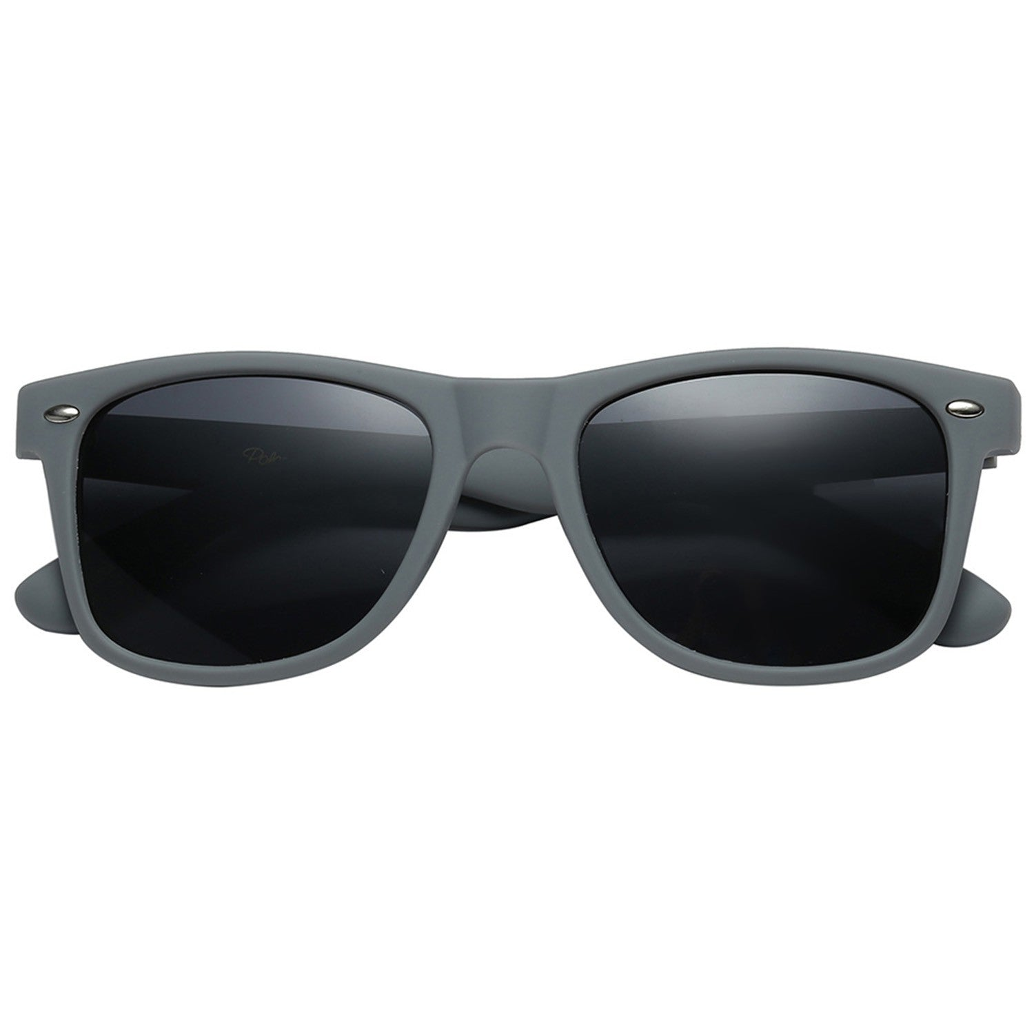 Polarspex Polarized 80's Retro Style Unisex Sunglasses with Wolf Grey Frames and Smoke Lenses