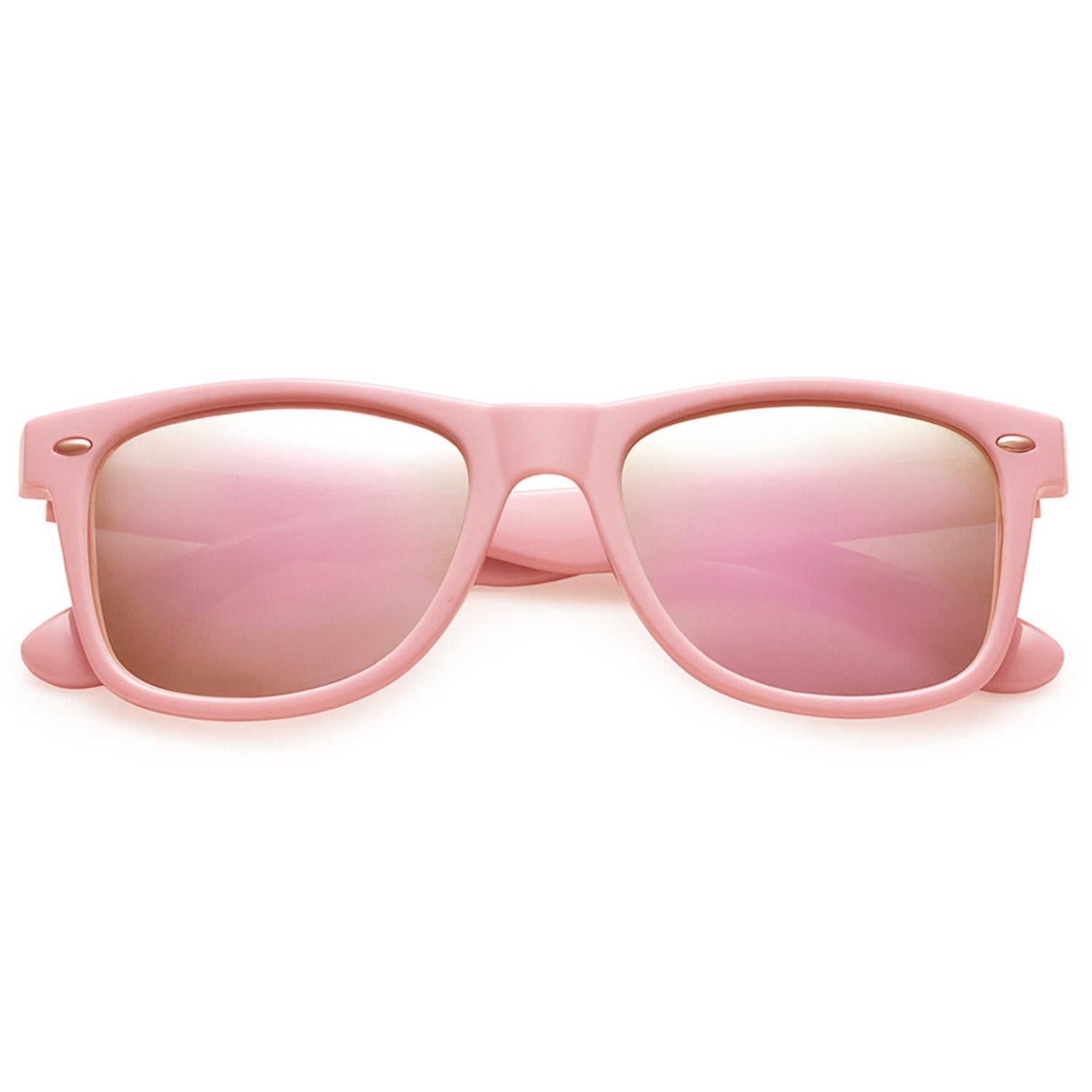 Polarspex Polarized 80's Retro Style Unisex Sunglasses with Princess Pink Frames and Pink Quartz Lenses