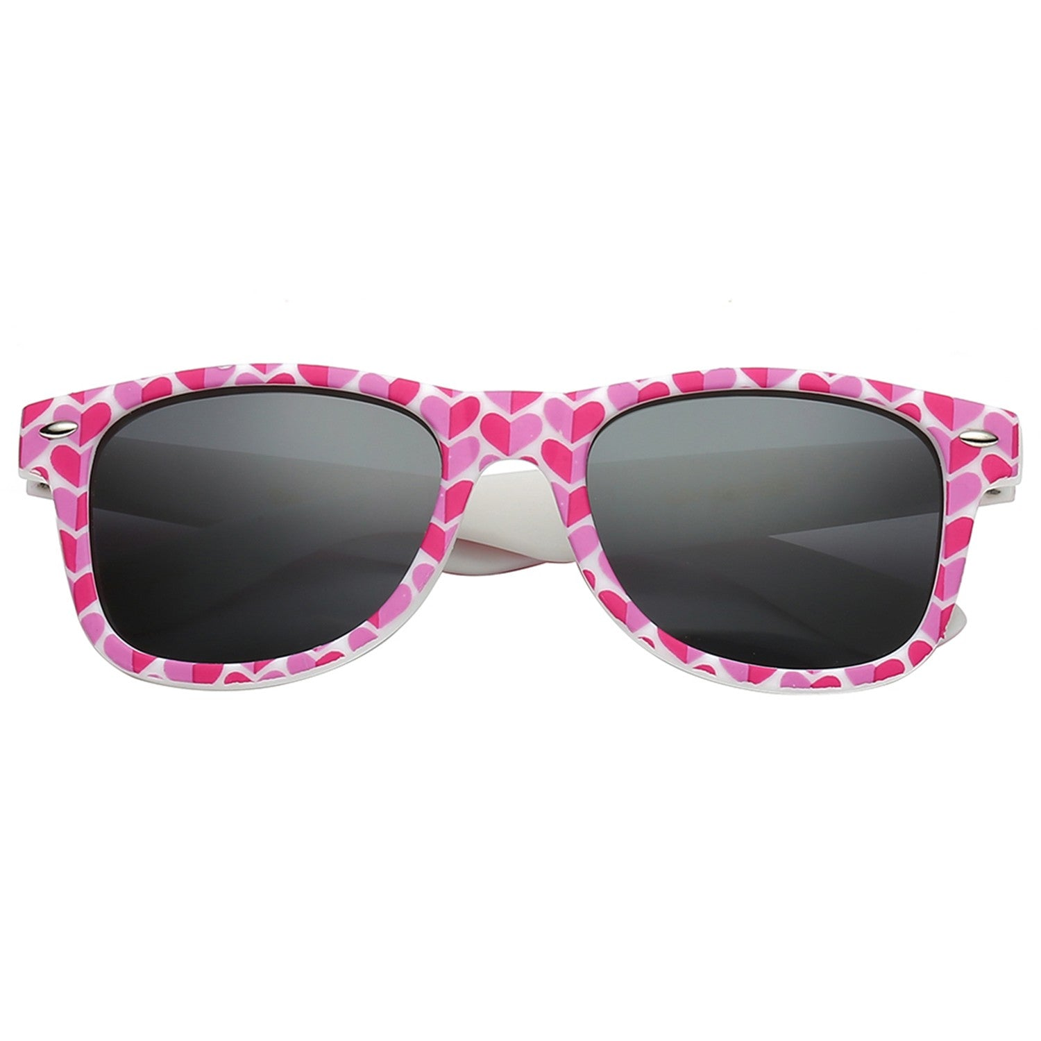 Polarspex Polarized 80's Retro Style Kids Sunglasses with Rubberized Valentine Heart Frames and Polarized Smoke Lenses for Boys and Girls