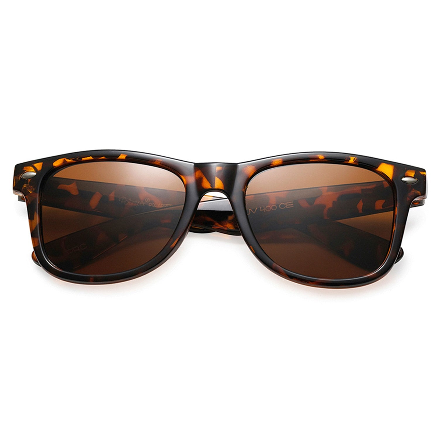 Polarspex Polarized 80's Retro Style Kids Sunglasses with Honey Tortoise Frames and Polarized Brown Lenses for Boys and Girls