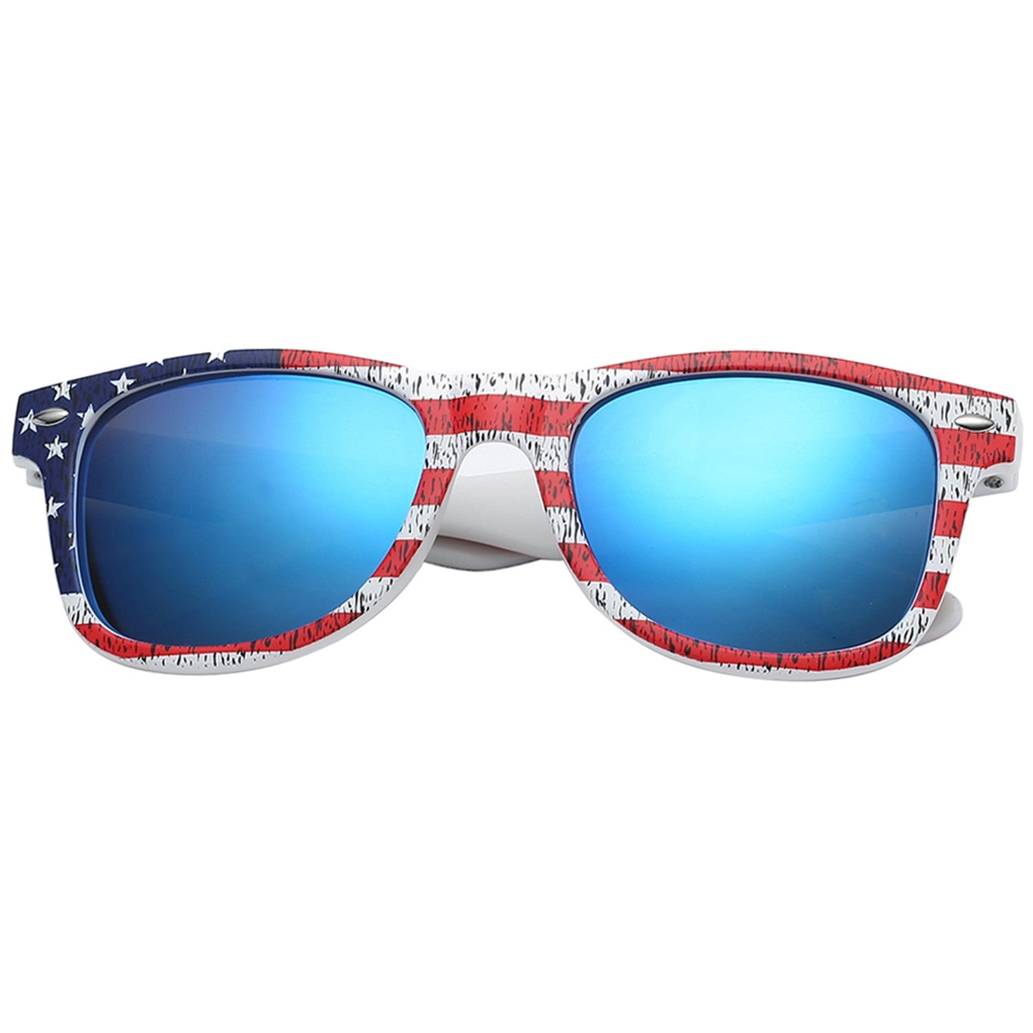 Polarspex Polarized 80's Retro Style Kids Sunglasses with American Flag Frames and Polarized Ice Blue Lenses for Boys and Girls