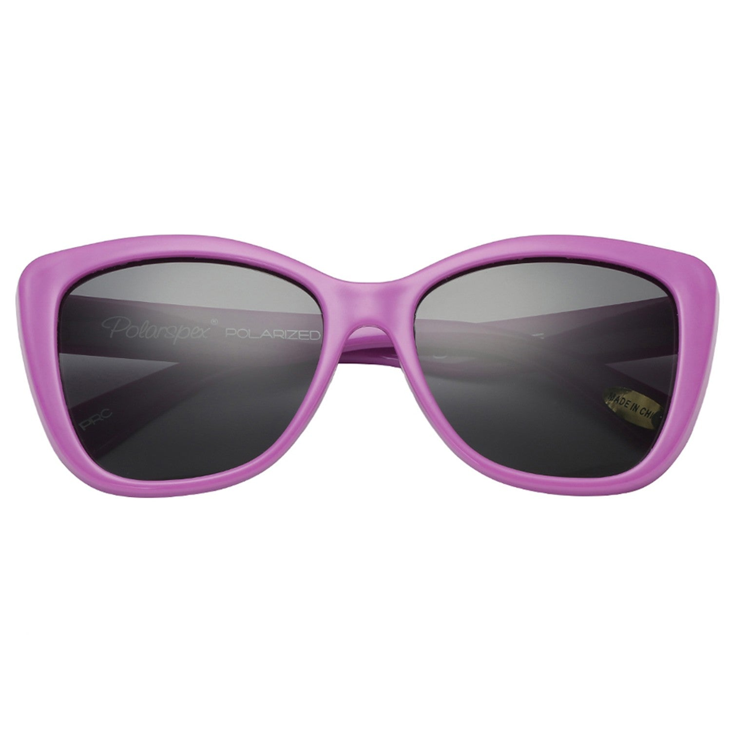 Polarspex Polarized Elastic Cateyes Style (BPA Free) Kids Sunglasses with Lavender Purple Frames and Polarized Smoke Lenses for Girls (Ages 3 - 10)