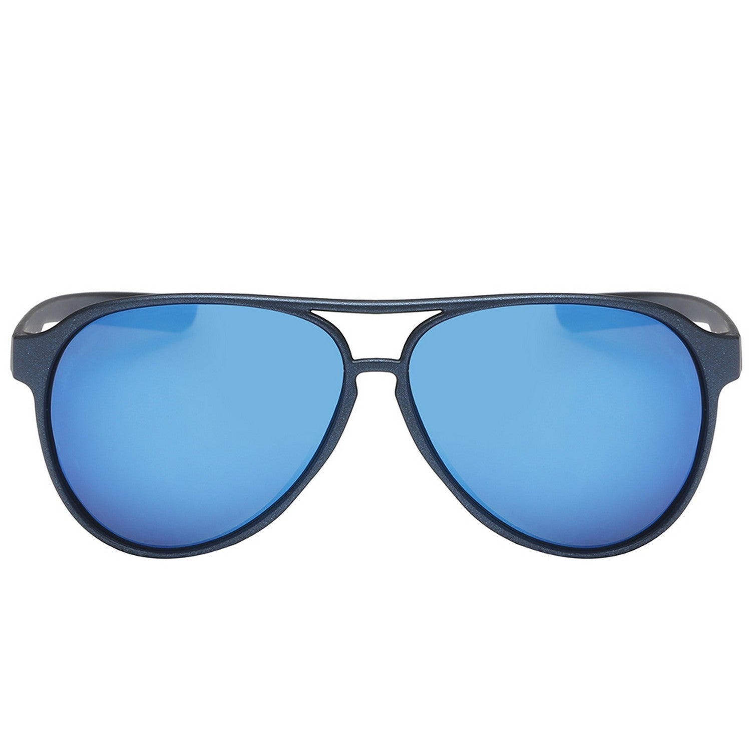 Polarspex Polarized Classic Ultar Lightweight Aviator Pilot Sunglasses with Titanium Navy Frames and Polarized Ice Blue Lenses for Men and Women