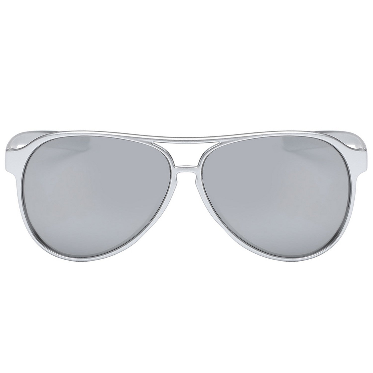Polarspex Polarized Classic Ultar Lightweight Aviator Pilot Sunglasses with Titanium Silver Frames and Polarized Ice Tech Lenses for Men and Women