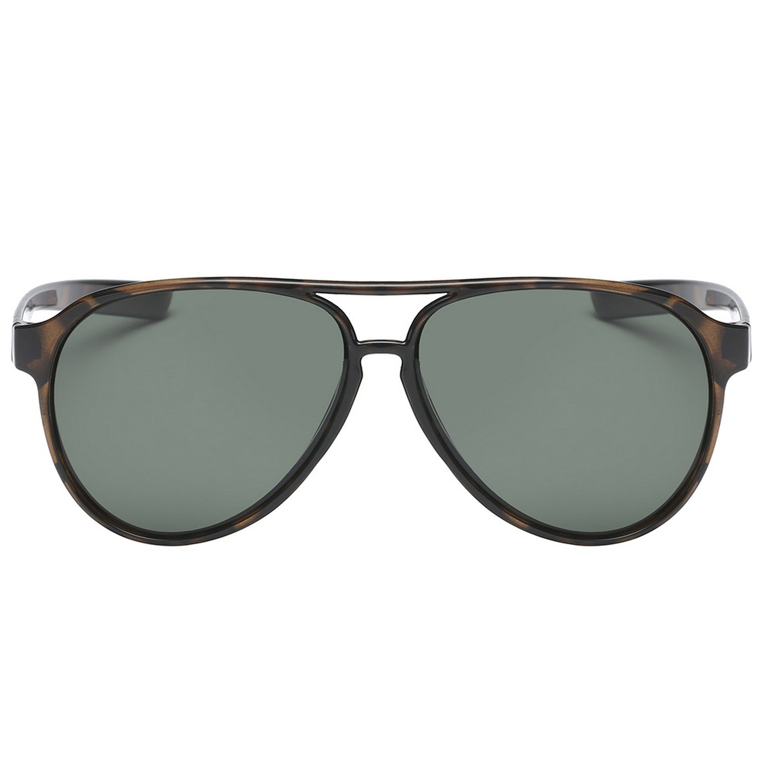 Polarspex Polarized Classic Ultar Lightweight Aviator Pilot Sunglasses with Honey Tortoise Frames and Polarized Olive Lenses for Men and Women