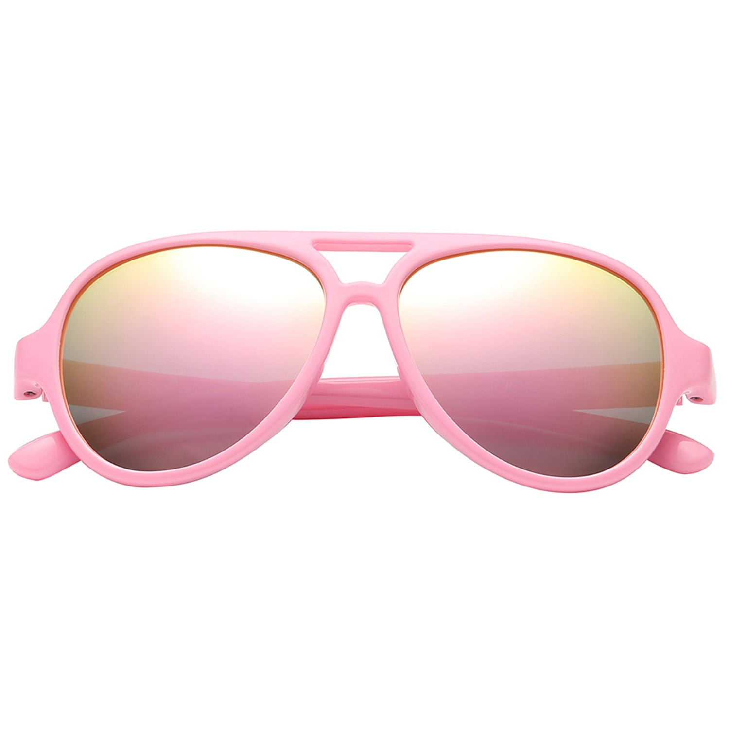 Polarspex Polarized Bendable Aviator Pilot Sunglasses with Princess Pink Frames and Polarized Pink Quartz Lenses for Boys and Girls (Ages 2 - 8)