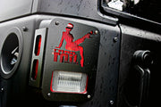 JEEP TAIL LIGHT COVER 07-18 WRANGLER JK TRAIL TAIL LADY STEEL BLACK POWDERCOAT - Max-Bilt