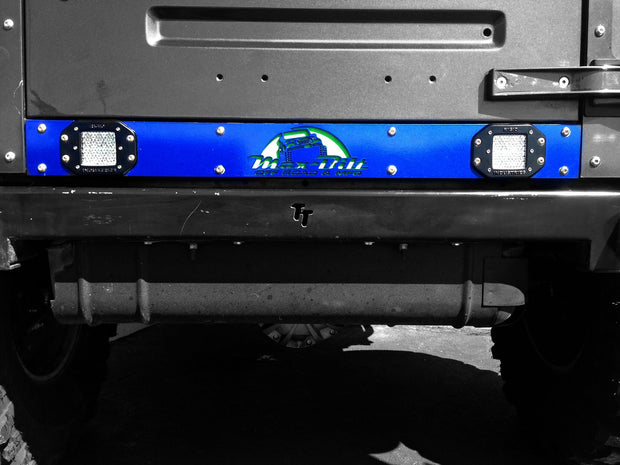 JEEP WRANGLER TJ/YJ VALANCE ARMOR BARE STEEL WITH LIGHT CUTOUTS - Max-Bilt