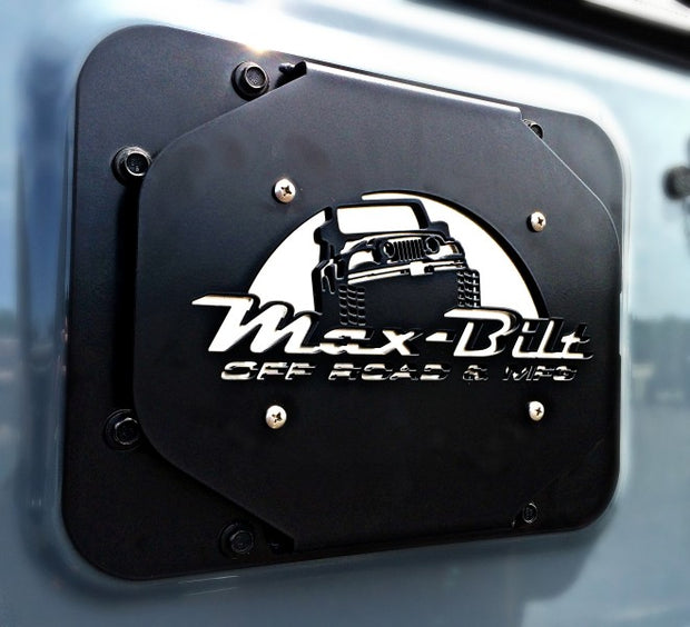 JEEP JK SPARE TIRE DELETE 07-18 WRANGLER JK BLACK POWDERCOAT - Max-Bilt