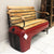Repurposed Tractor Bench with Wood Seat 50