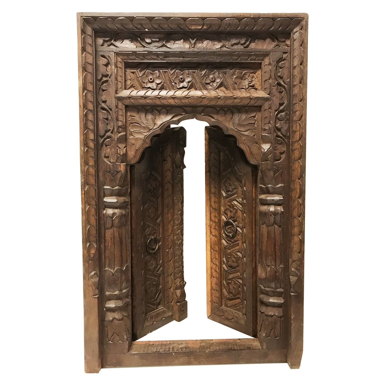 Intricate Wooden Door Arch Frame for Mounting | Bai's Home Decor on