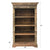 Reclaimed Rustic Solid Wooden Barrister Tall Bookcase 46
