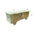 Brass Trim Pistachio Green Reclaimed Wooden Storage Trunk 45