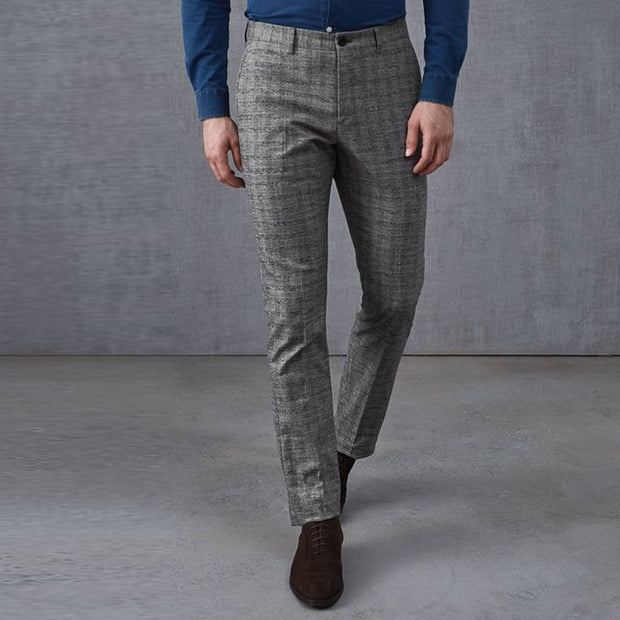 Men's Classic Check Slim Trousers