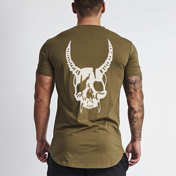 Fitness Fashion Quick-Drying Printed Short-Sleeved T-Shirt